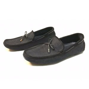 Ermenegildo Zegma Canvas and Suede Loafers